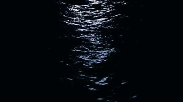 Night Sea Animation: Stock Motion Graphics