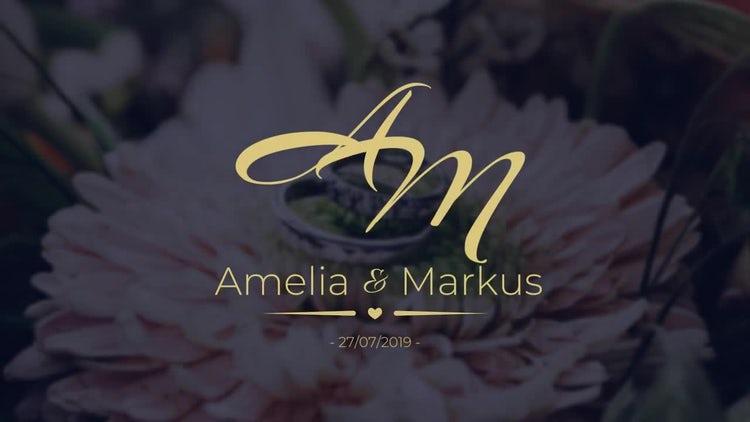 12 Romantic Wedding Labels: Premiere Pro Templates