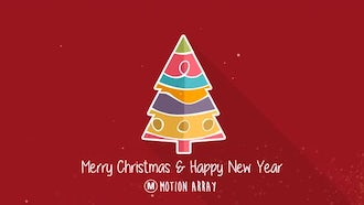 Christmas Tree Minimal: After Effects Templates