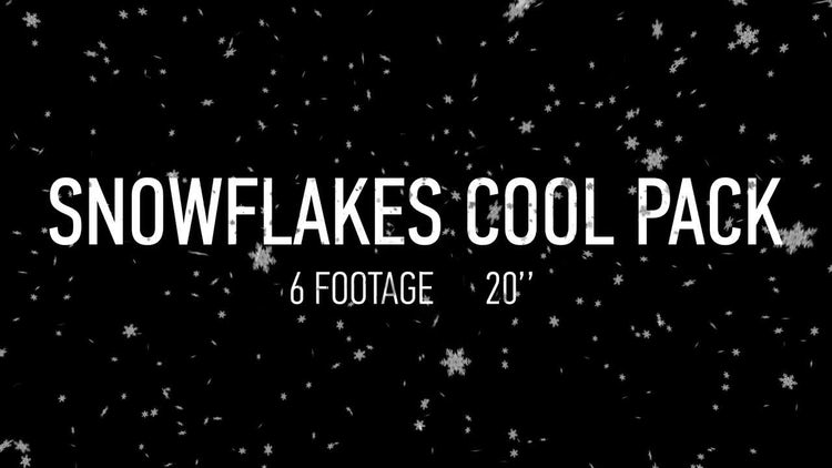 Snowflakes Pack: Motion Graphics
