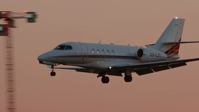 A Private Jet: Stock Video