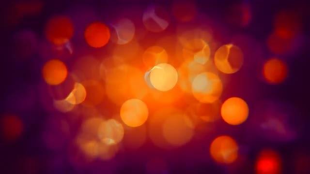 Orange-Purple Bokeh Circles 4K: Stock Motion Graphics