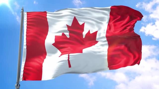 Canada Flag Animation: Stock Motion Graphics