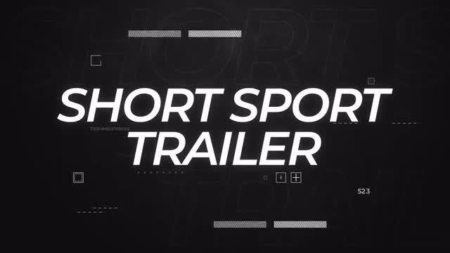 Short Sport Trailer: After Effects Templates