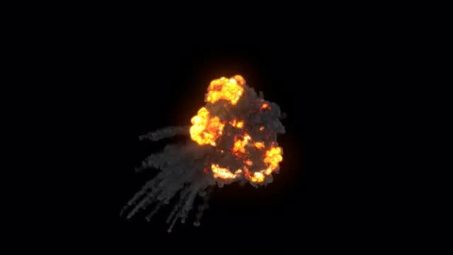 Smoky Aerial Explosion: Stock Motion Graphics
