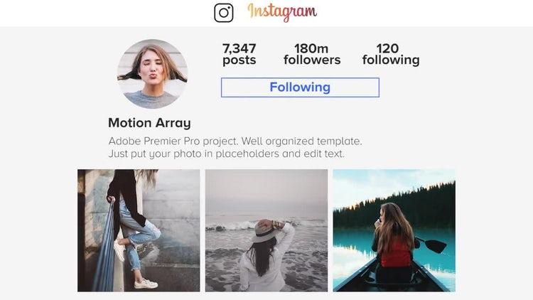Instagram Slideshow: Premiere Pro Templates