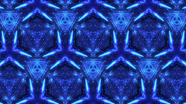 Glowing Dots Kaleidoscope: Stock Motion Graphics