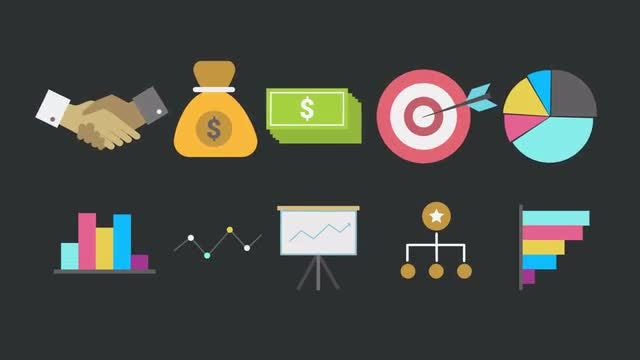 Business Animated Icons: Motion Graphics Templates