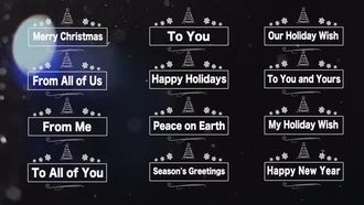 Animated Text Phrases for Christmas: Stock Motion Graphics