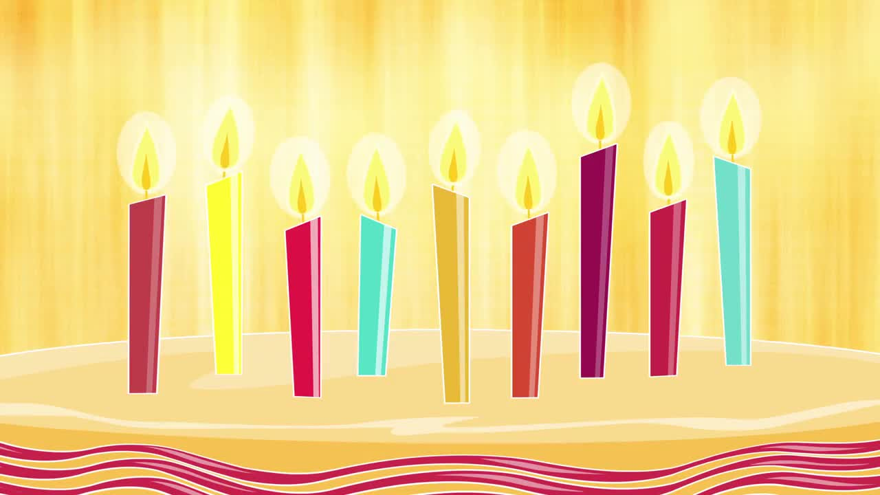 9th Birthday Animated Candles Background
