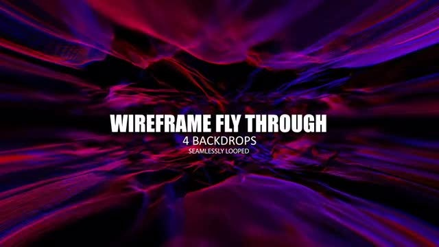 Wireframe Fly-through Pack: Stock Motion Graphics