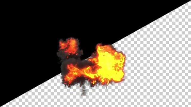 Turbulent Explosion: Stock Motion Graphics