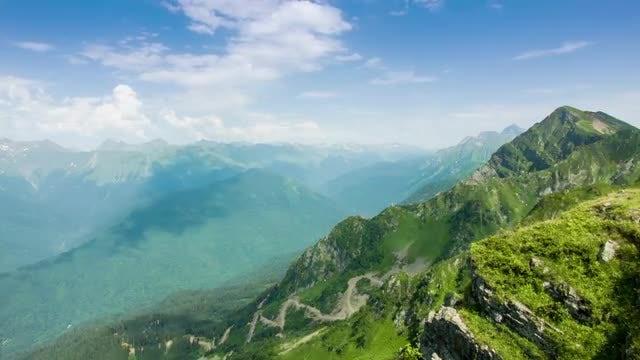Kaukaz Mountains Time Lapse: Stock Video
