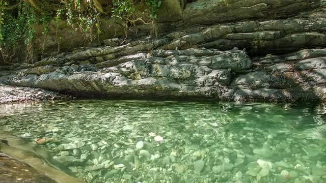 Rocks On The Lake: Stock Video