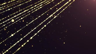 Cinematic Stage Gold Sparks: Motion Graphics