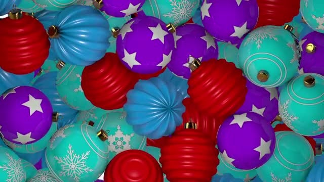 Falling Christmas Balls Transition Pack: Stock Motion Graphics