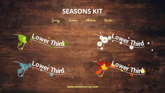 Seasons Kit: After Effects Templates