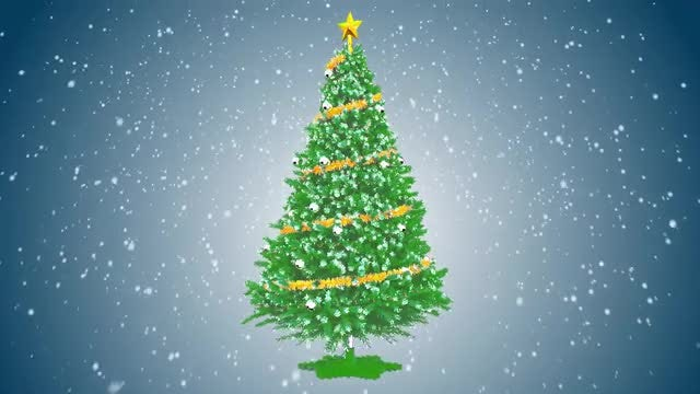 Rotation Christmas tree with ornaments: Stock Motion Graphics