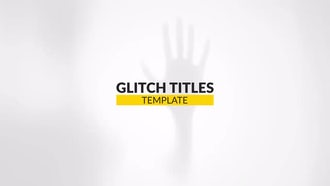 Glitch Minimal Titles: After Effects Templates