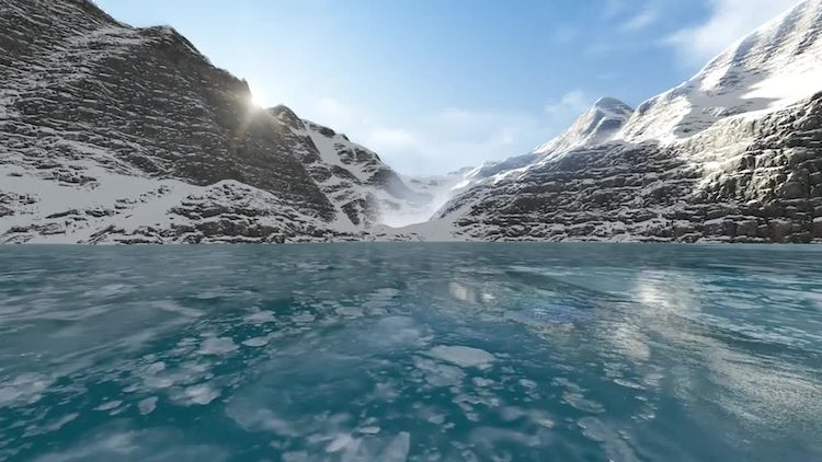 Gliding On The Ice Lake: Motion Graphics