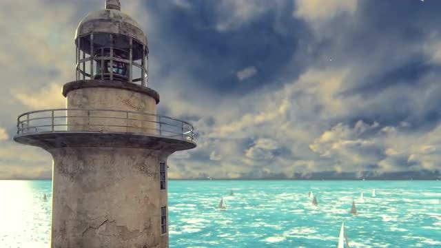 Old Lighthouse: Stock Motion Graphics