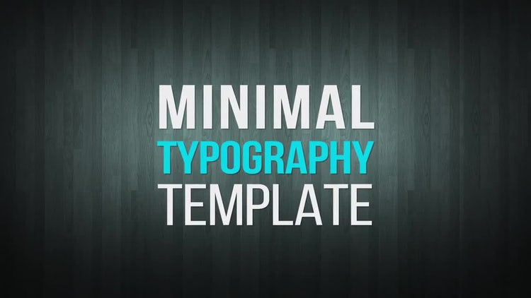 Minimal Typography - After Effects Templates | Motion Array