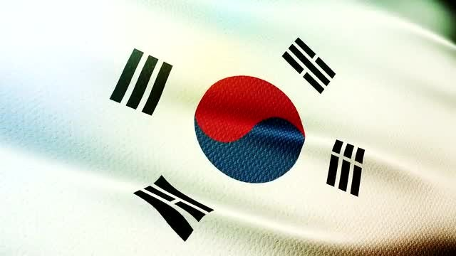 South Korea Flag: Stock Motion Graphics