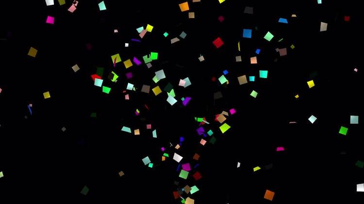 Confetti the bottom for Screen blending mode: Stock Motion Graphics