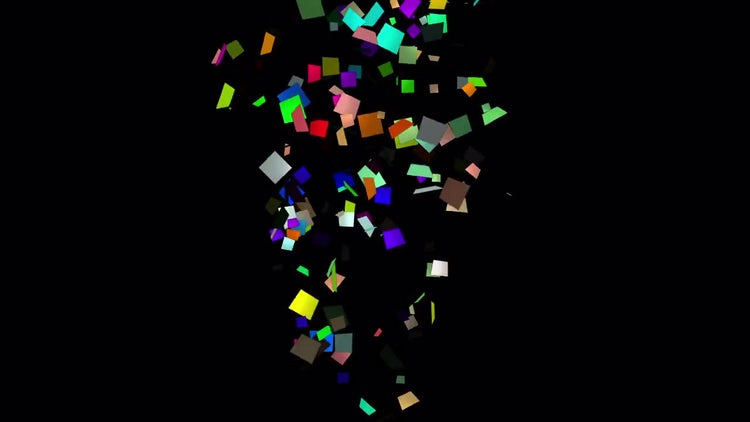 Splash Confetti. Three options: Motion Graphics