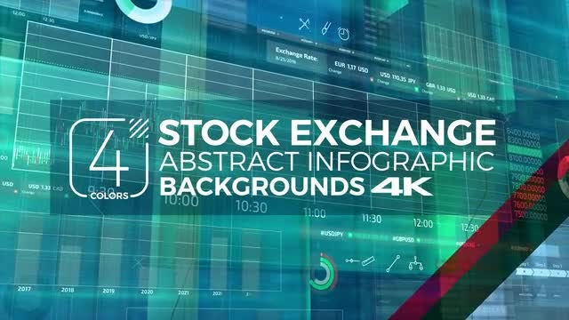 Stock Exchange Backgrounds Pack: Stock Motion Graphics