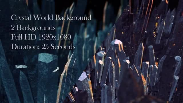Crystal World Backgrounds: Stock Motion Graphics