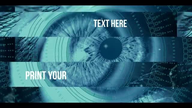 Glitch Parallax Tech Slideshow: After Effects Templates