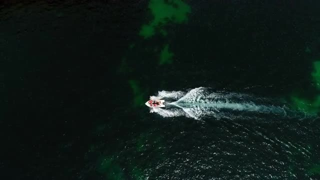 Aerial View Of Sailboat: Stock Video