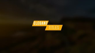 Modern Titles V1: After Effects Templates