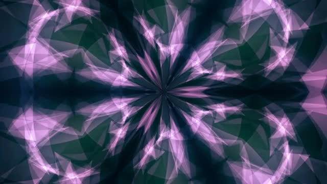 Purple Geometric Kaleidoscope: Stock Motion Graphics