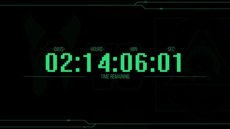 Purge Countdown Clock: After Effects Templates