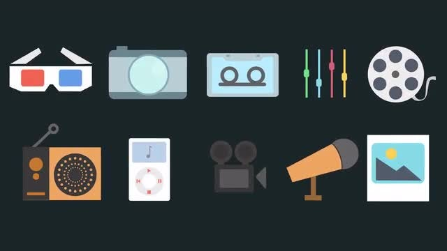 Multimedia Icons Pack: Stock Motion Graphics