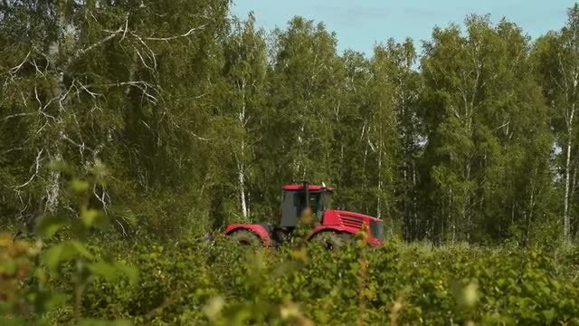 Tractor Ploughing A Field: Stock Video