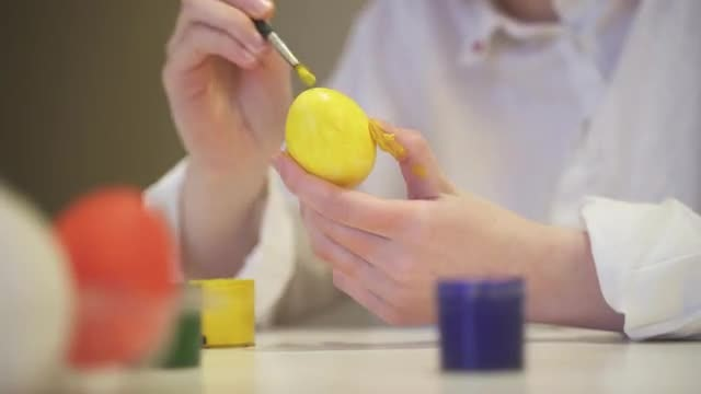 A Yellow Egg: Stock Video