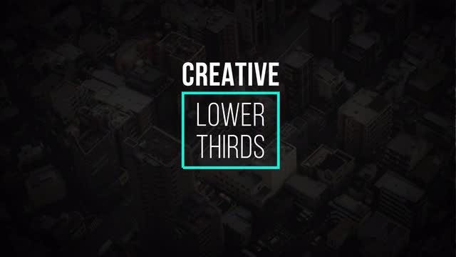 Creative Lower Thirds: Motion Graphics Templates