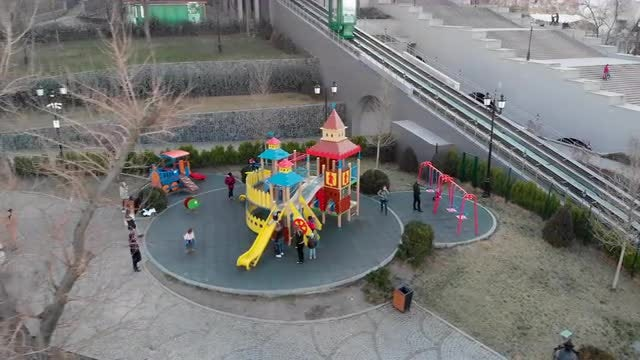 Children On The Playground: Stock Video