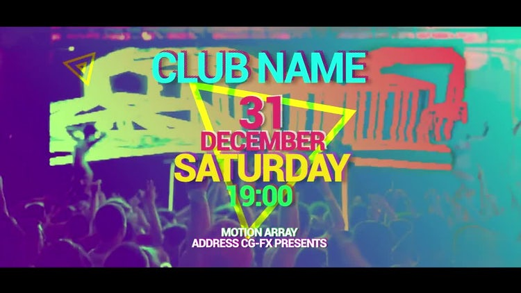 Party Promotion: After Effects Templates
