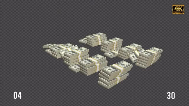 Falling Dollars Stack Pack: Stock Motion Graphics