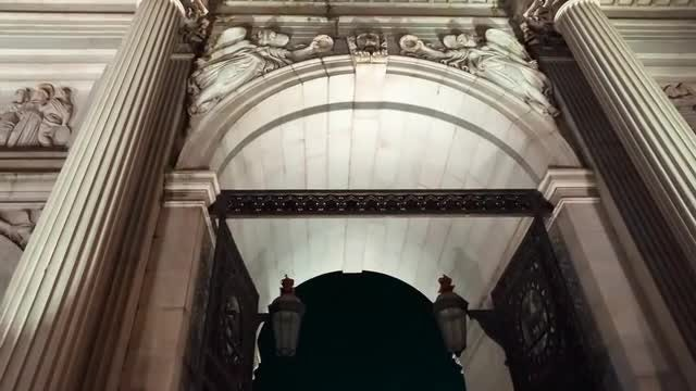 Marble Arch By Night: Stock Video