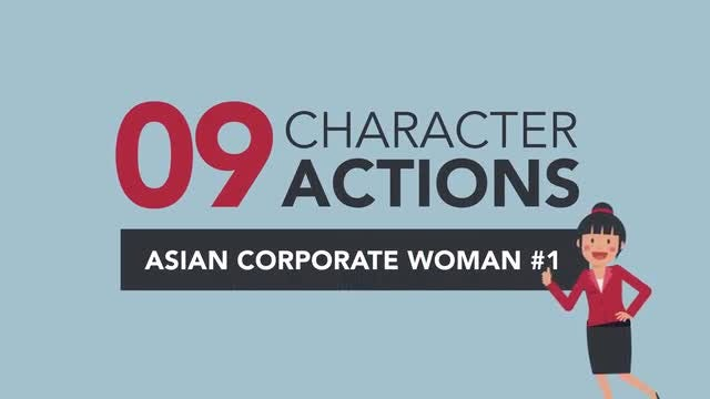 Asian Corporate Woman Pack #1: Stock Motion Graphics