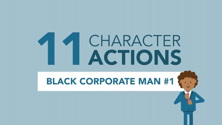 African-American Corporate Man Pack #1: Stock Motion Graphics