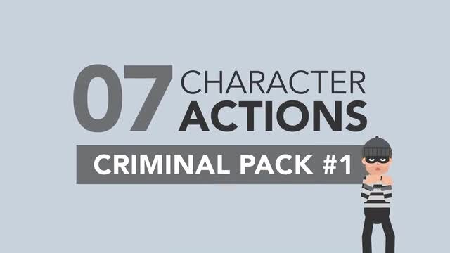 Male Criminal Character Pack #1: Stock Motion Graphics