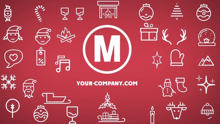 Minimal Christmas Icons: After Effects Templates