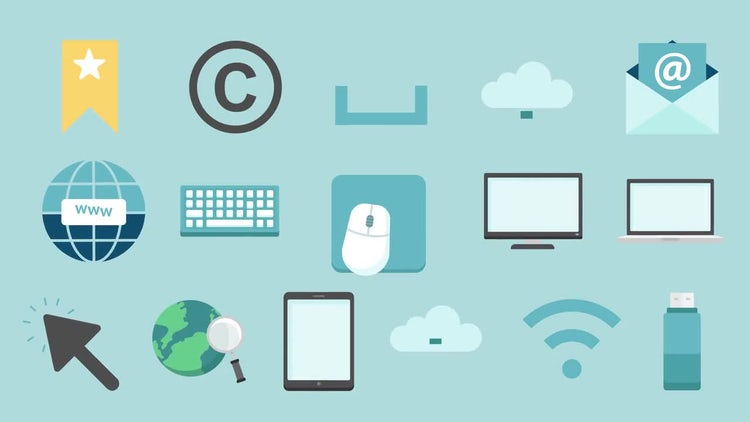 Computer & Internet Icons Pack: Stock Motion Graphics
