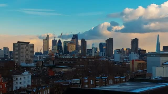 Panorama Of Central London: Stock Video